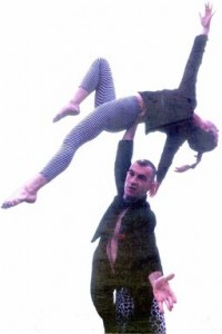 One hand acro balance