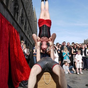 Two for Tea Outdoors acrobatic balance