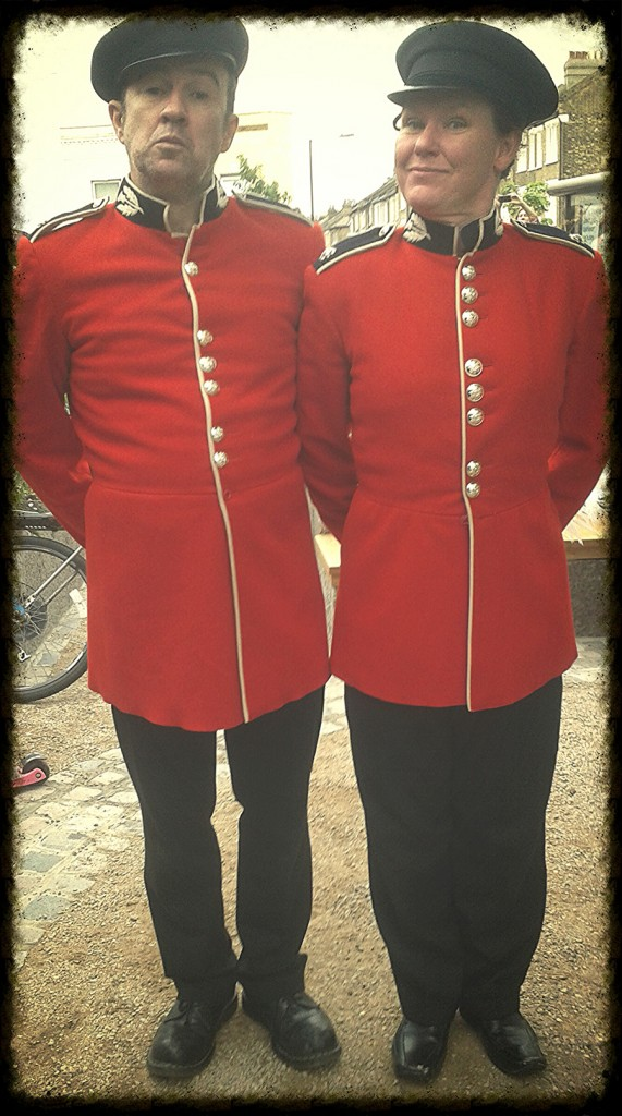 Guards in red