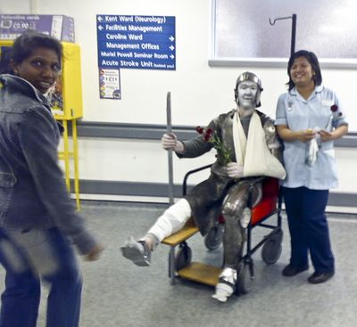 St. George at A&E, St. George's Hospital, St. George's Day