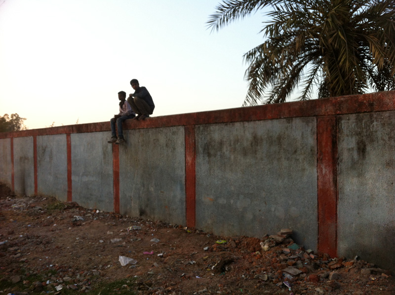 he wall around Union Carbide site