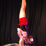 Two for Tea indoors handstand kiss